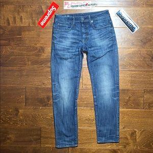 G STAR RAW 3301 SLIM INDIGO Worn Denim blue jeans